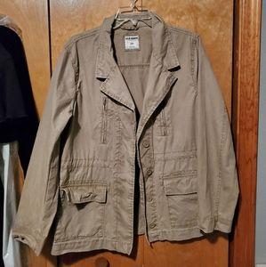 Khaki cotton surplus jacket
